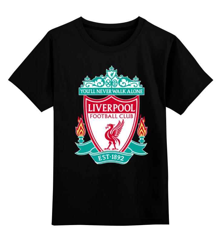 Фото - Детская футболка классическая унисекс Printio Liverpool (ливерпуль) футболка wearcraft premium slim fit printio liverpool ливерпуль