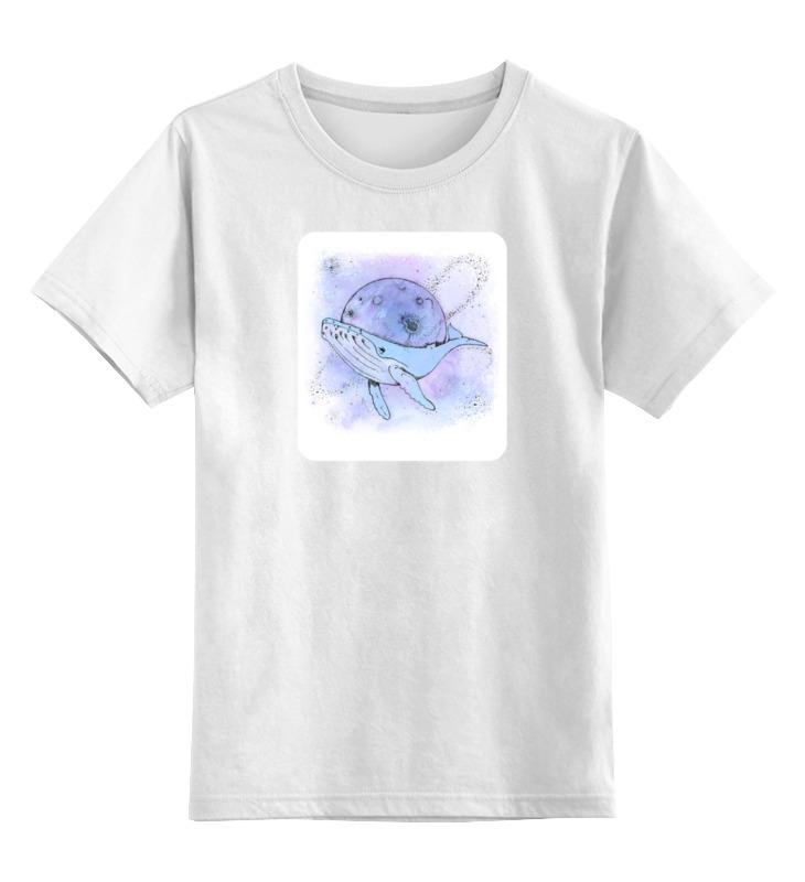 Детская футболка классическая унисекс Printio Космический кит футболка классическая printio кит ричардс