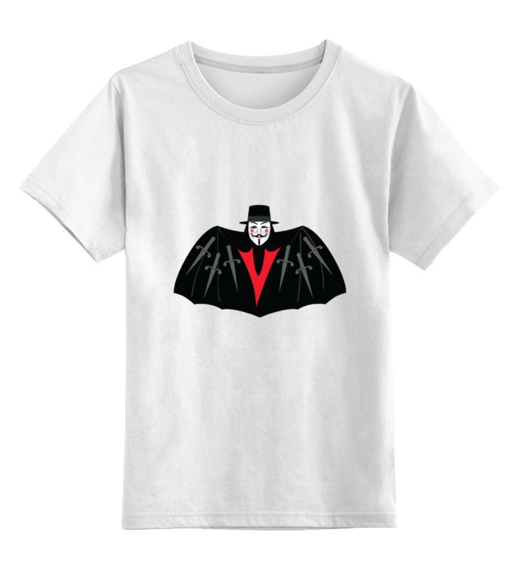 Детская футболка классическая унисекс Printio V — значит вендетта футболка с полной запечаткой женская printio v значит вендетта