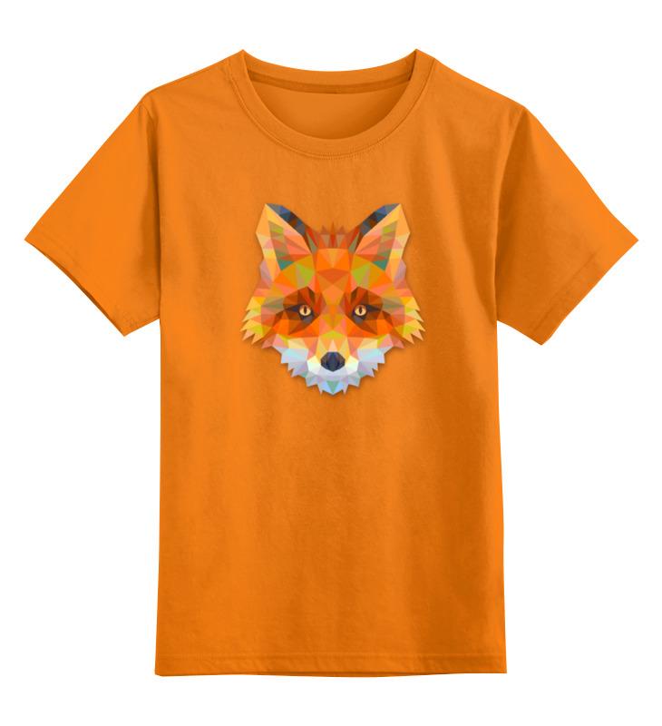 Детская футболка классическая унисекс Printio Полигональная лиса детская футболка классическая унисекс printio fox лиса