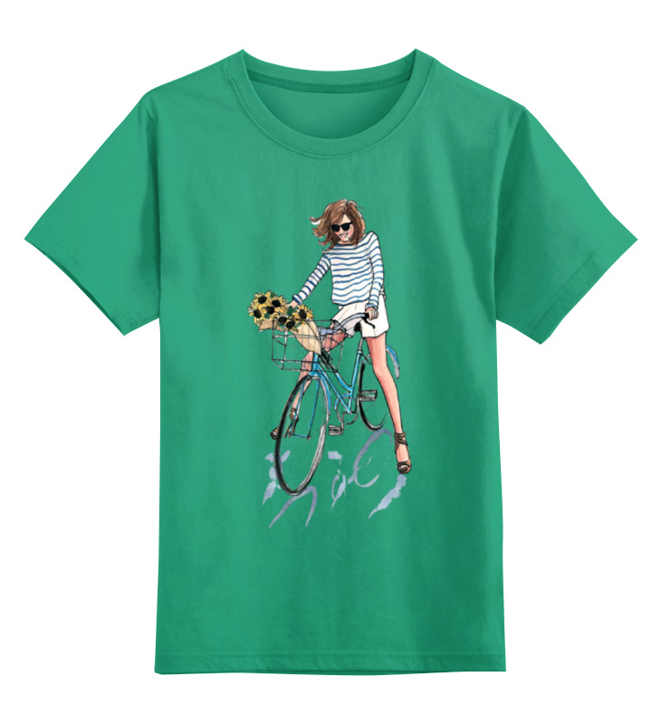 Детская футболка классическая унисекс Printio Девушка с цветами футболка классическая printio девушка с завязанными глазами