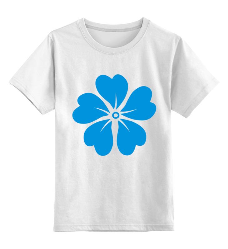 Детская футболка классическая унисекс Printio Голубой цветок asled голубой цветок пламени xl no