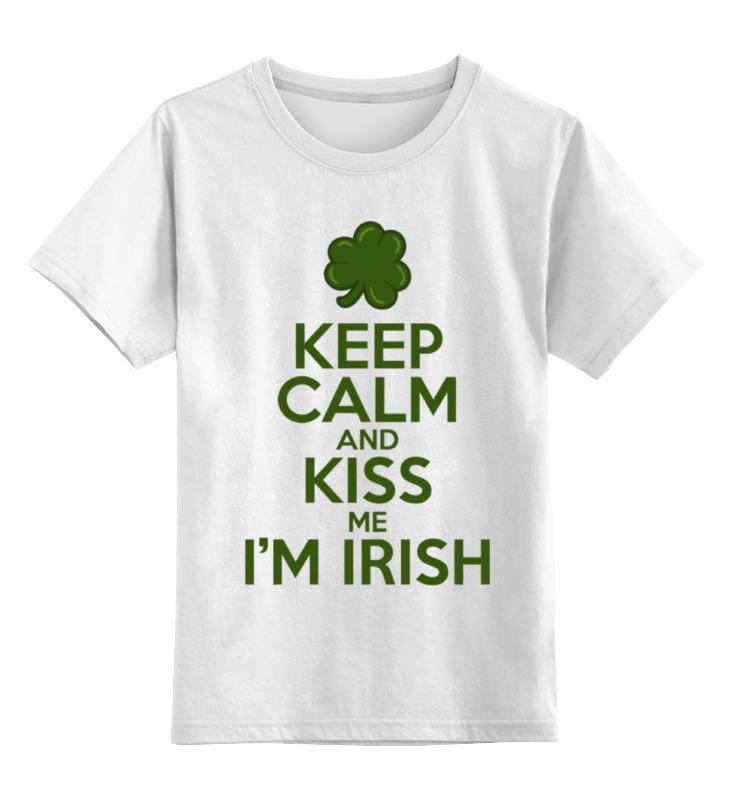 Детская футболка классическая унисекс Printio Поцелуй ирландца