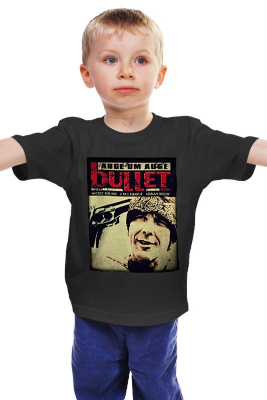 Детская футболка классическая унисекс Printio Пуля bullet майка классическая printio война никогда не меняется