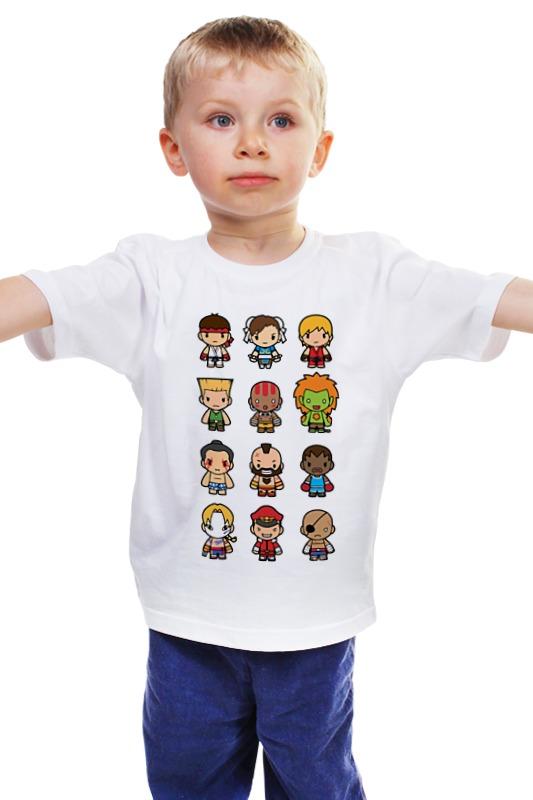 Детская футболка классическая унисекс Printio Уличный боец (street fighter)