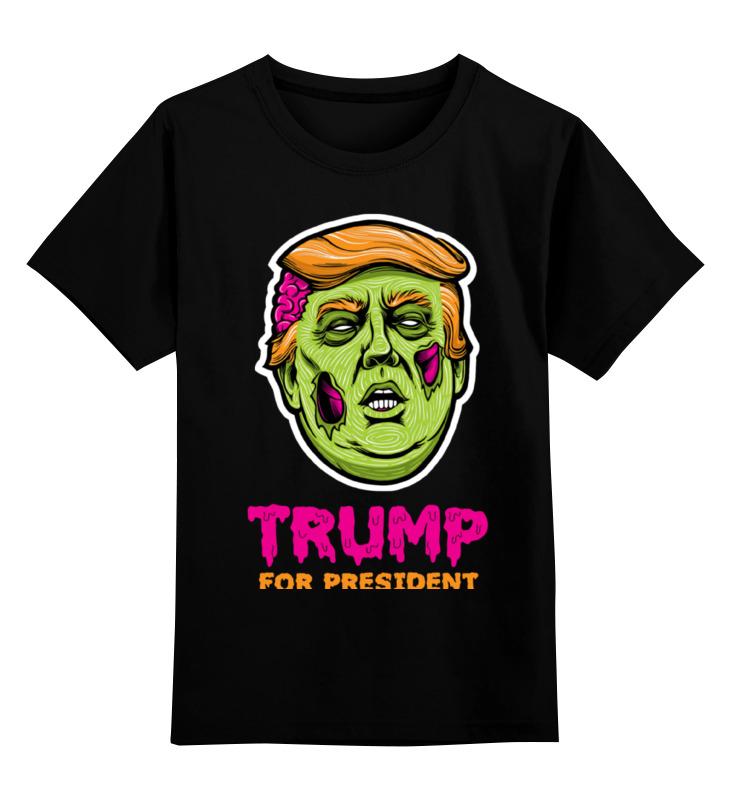 все цены на Детская футболка классическая унисекс Printio Трамп зомби онлайн