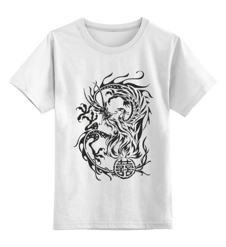Детская футболка классическая унисекс Printio Дракон и феникс детская футболка классическая унисекс printio дракон и феникс