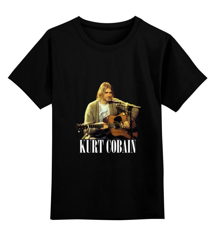 Детская футболка классическая унисекс Printio Nirvana kurt cobain guitar t-shirt футболка классическая printio kurt cobain