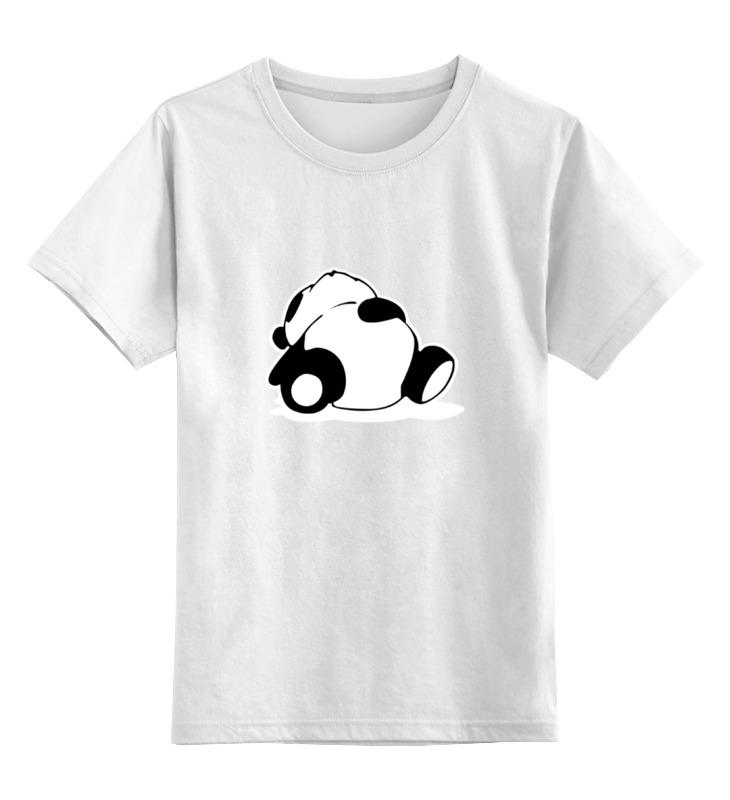 Детская футболка классическая унисекс Printio Спящая панда детская футболка классическая унисекс printio король панда