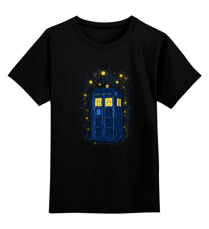 Детская футболка классическая унисекс Printio Тардис (винсент ван гог) футболка wearcraft premium printio тардис винсент ван гог