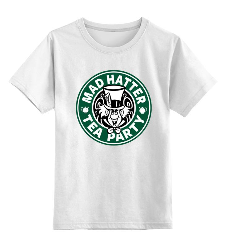 Детская футболка классическая унисекс Printio Безумный шляпник (mad hatter) цена и фото