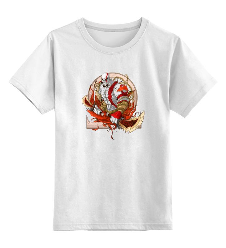 Детская футболка классическая унисекс Printio Кратос (бог войны) игрушечное оружие nerf hasbro бластер зомби страйк сайдстрайк