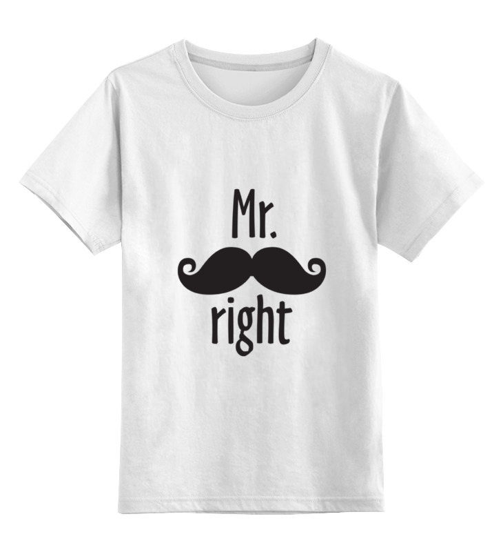 Детская футболка классическая унисекс Printio Mr. right детская футболка классическая унисекс printio mrs always right