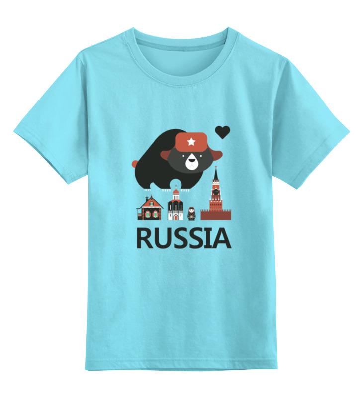 Детская футболка классическая унисекс Printio Россия (russia)
