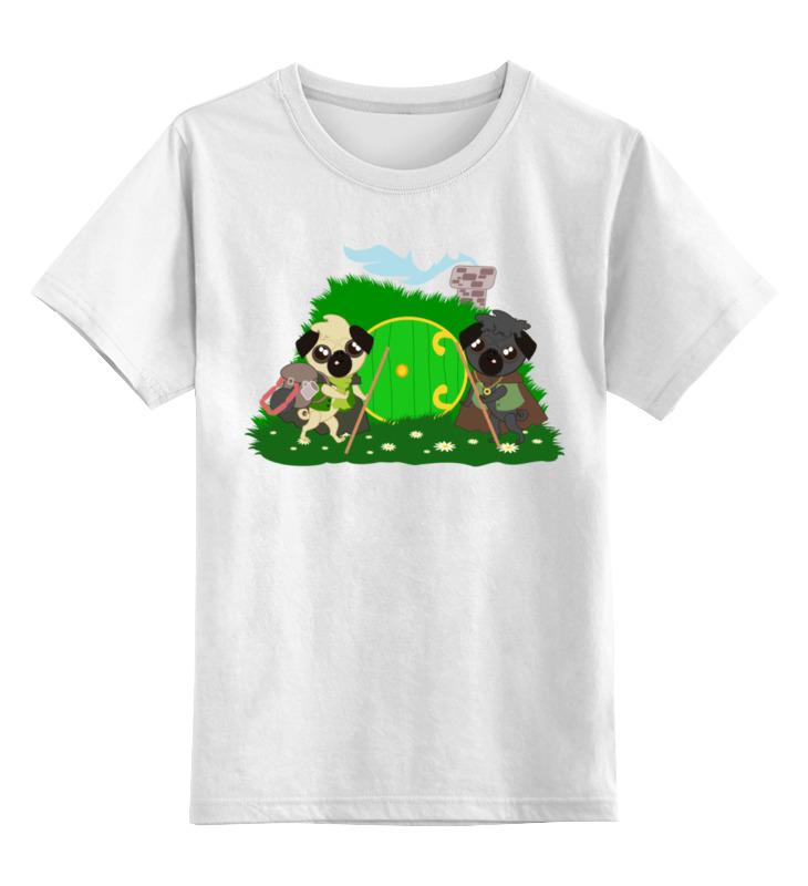Детская футболка классическая унисекс Printio Мопсы-хоббиты собираются в поход. отправляемся в поход