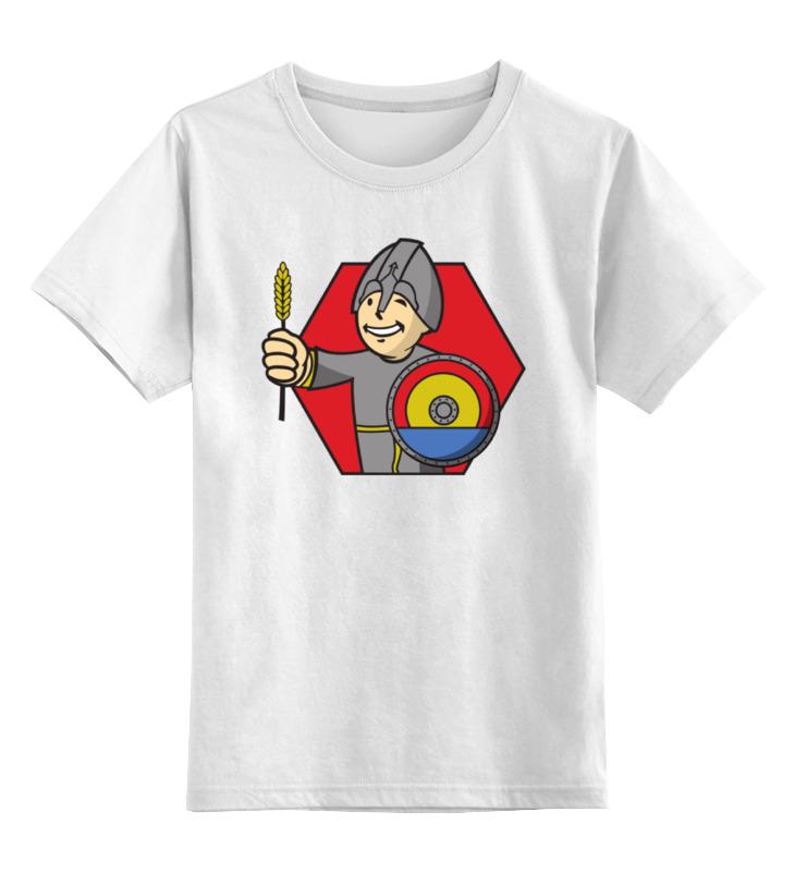 Детская футболка классическая унисекс Printio Колонизатор (fallout) цена