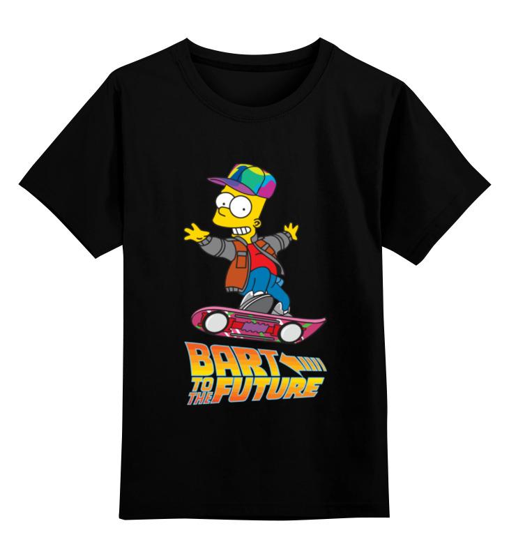 Детская футболка классическая унисекс Printio Bart to the future детская футболка классическая унисекс printio bart deadpool