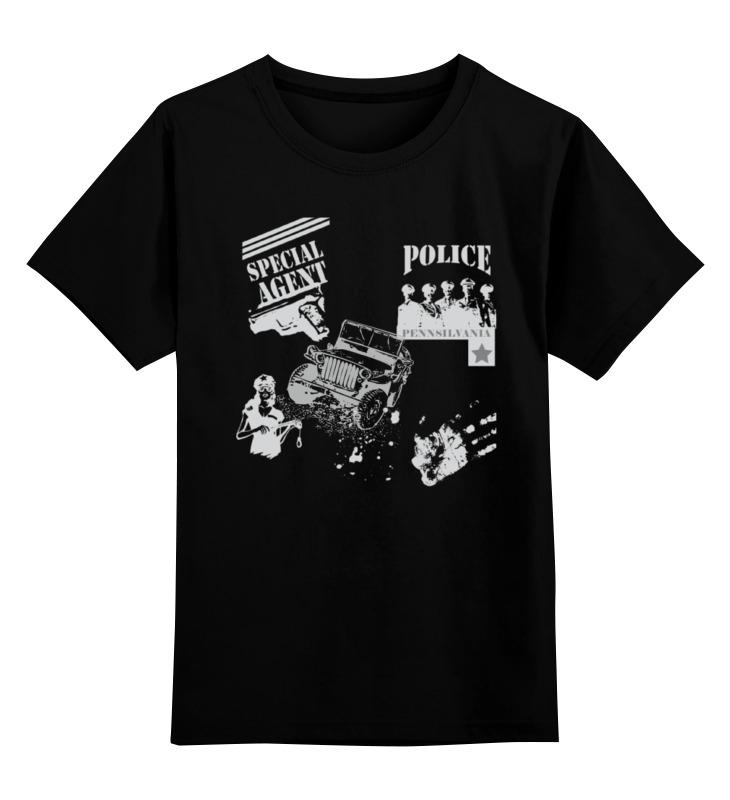 Детская футболка классическая унисекс Printio Spcial agent (police) police pl 12921jsb 02m