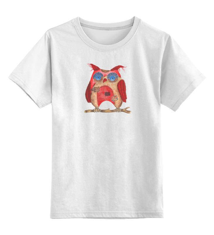 Детская футболка классическая унисекс Printio Текстильная сова airline ca 030 01
