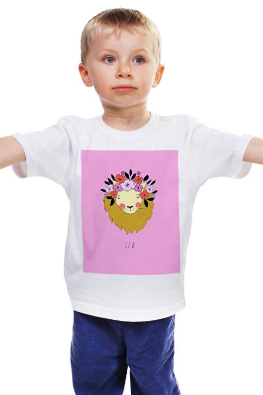 Детская футболка классическая унисекс Printio Знаки зодиака. лев. детская футболка классическая унисекс printio лев
