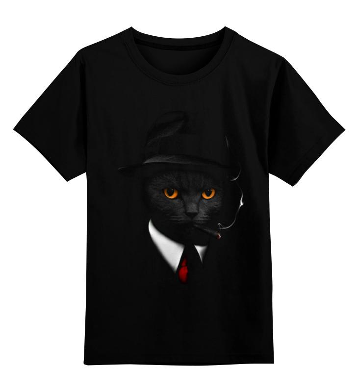 Детская футболка классическая унисекс Printio Агент кот цена и фото