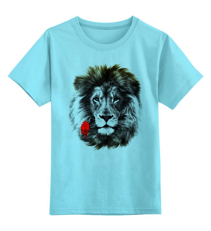 Детская футболка классическая унисекс Printio Лев и роза детская футболка классическая унисекс printio золотая роза