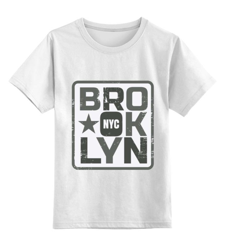 Детская футболка классическая унисекс Printio Brooklyn футболка классическая printio brooklyn bike