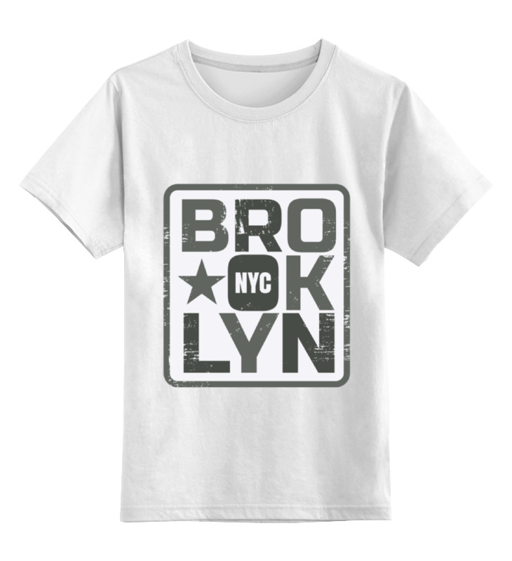 Детская футболка классическая унисекс Printio Brooklyn found in brooklyn