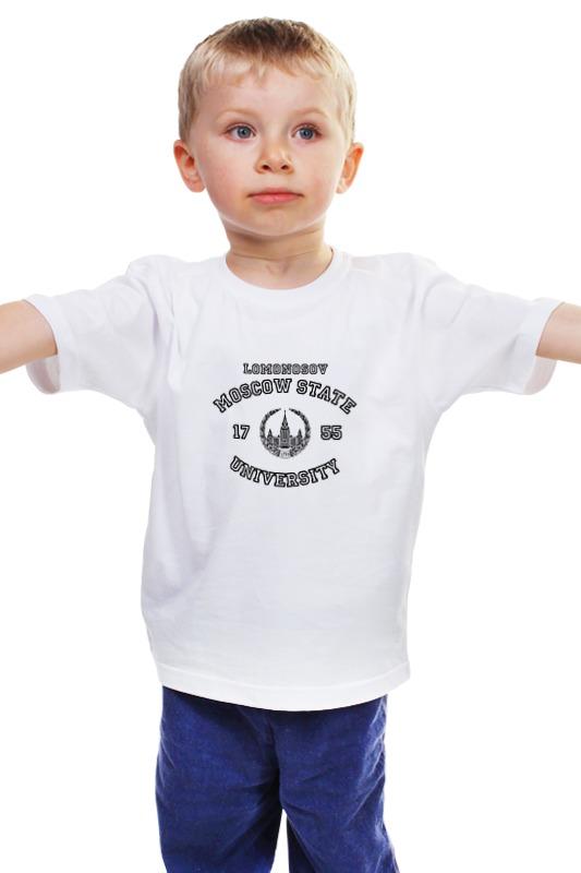 Детская футболка классическая унисекс Printio Футболка женская мгу