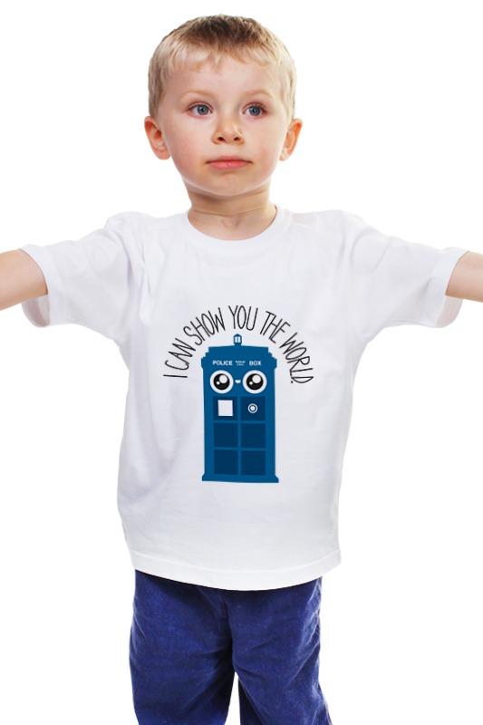 Детская футболка классическая унисекс Printio Я покажу тебе мир майка классическая printio я покажу тебе мир