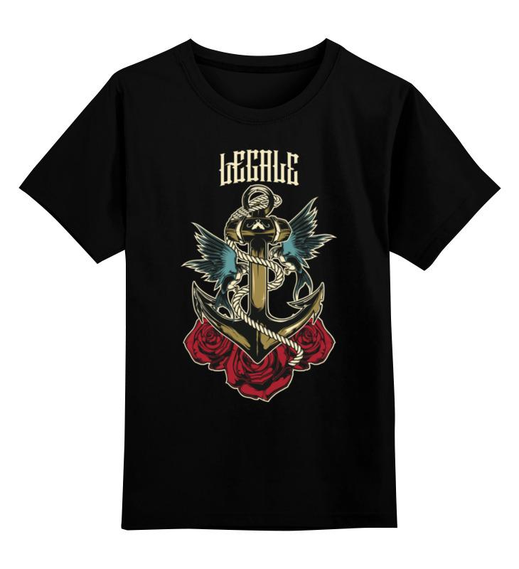 Детская футболка классическая унисекс Printio Anchor old school simple anchor multilayer pu leather chain wrap bracelet for men