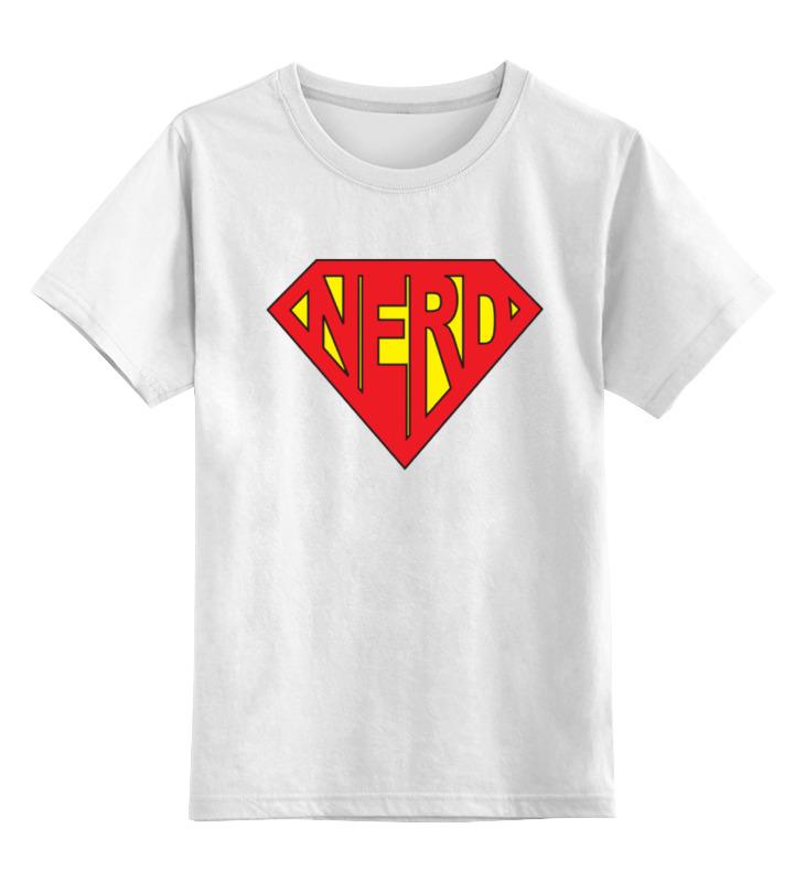 Детская футболка классическая унисекс Printio Нерд (зануда) птаха aka зануда день рождения артиста