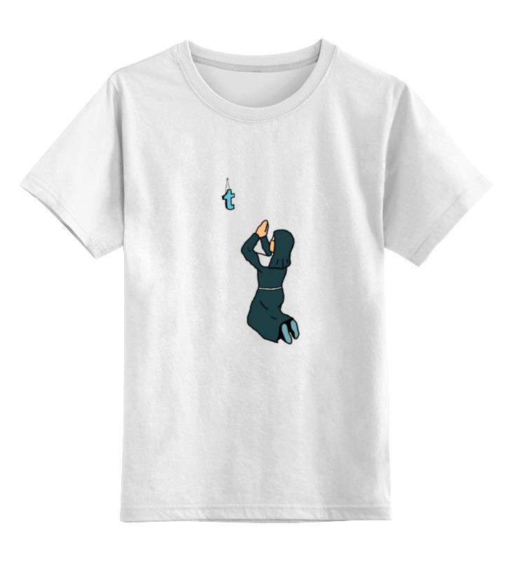 Детская футболка классическая унисекс Printio Монашка молится букве t футболка классическая printio монашка молится букве t