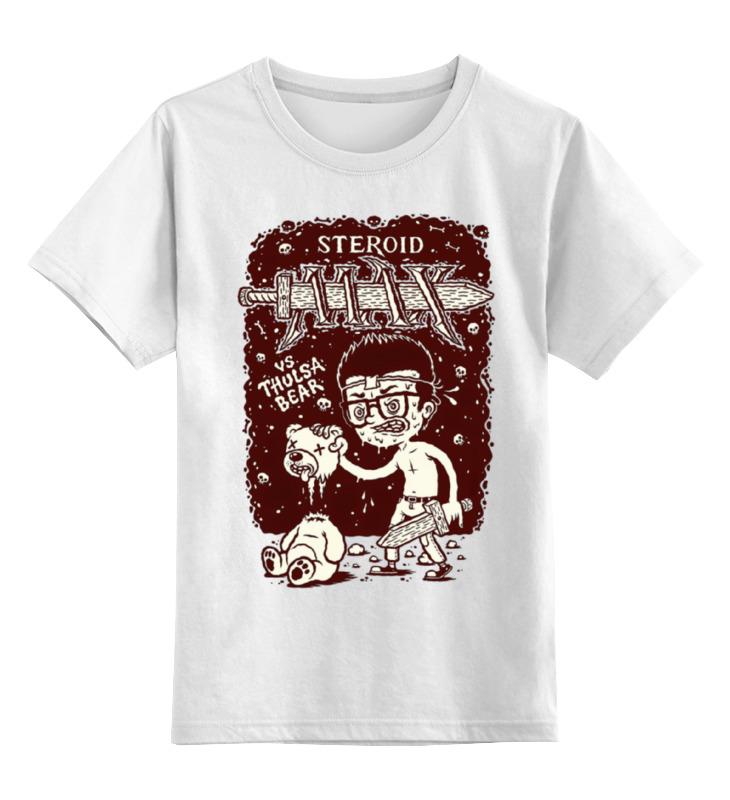 цена Детская футболка классическая унисекс Printio Steroid max