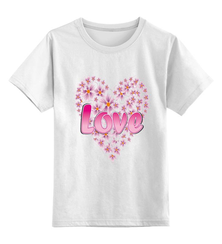 Детская футболка классическая унисекс Printio Love футболка детская picture organic love basic tee blue