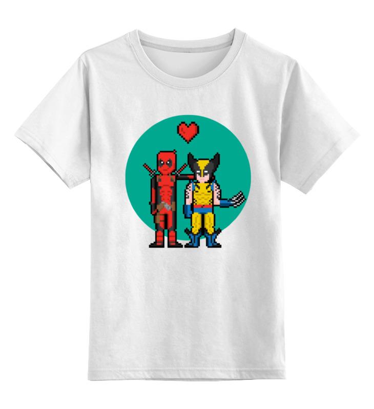 Детская футболка классическая унисекс Printio Дэдпул и росомаха детская футболка классическая унисекс printio миньон росомаха