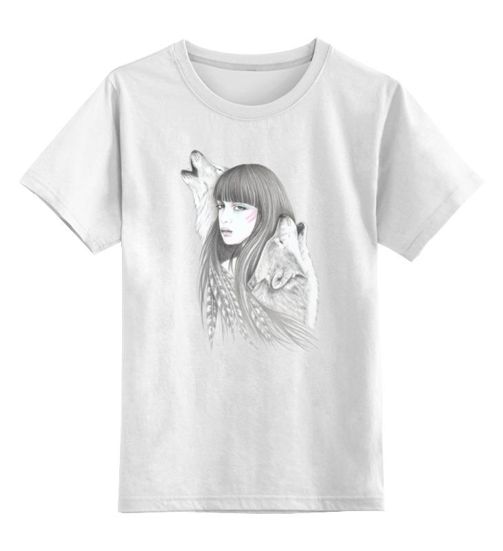 Детская футболка классическая унисекс Printio Девушка и волки детская футболка классическая унисекс printio девушка