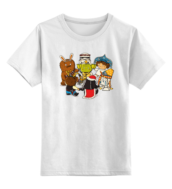 Детская футболка классическая унисекс Printio Звёздные войны – новый год лонгслив printio звёздные войны – новый год