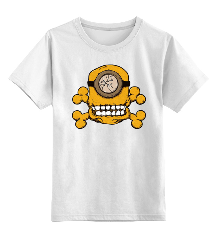 Детская футболка классическая унисекс Printio Skull minion майка классическая printio skull minion