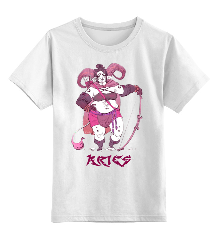 Детская футболка классическая унисекс Printio Знак зодиака овен цена 2017