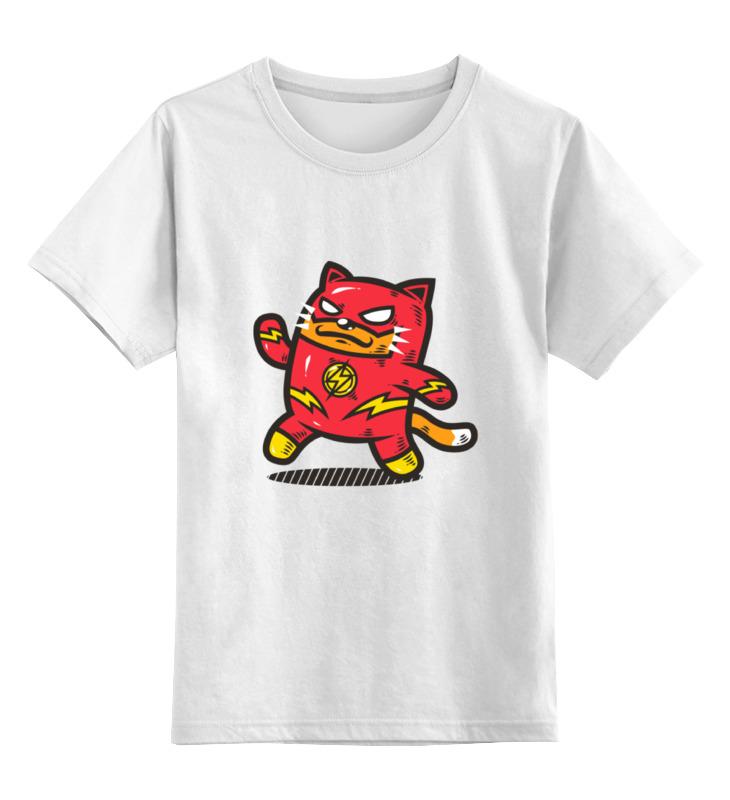Детская футболка классическая унисекс Printio Кот-флэш детская футболка классическая унисекс printio абстрактный кот