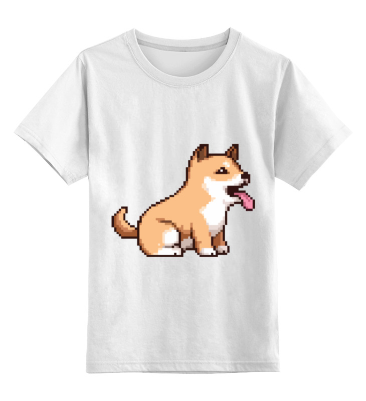 цена на Детская футболка классическая унисекс Printio Пиксельная собачка