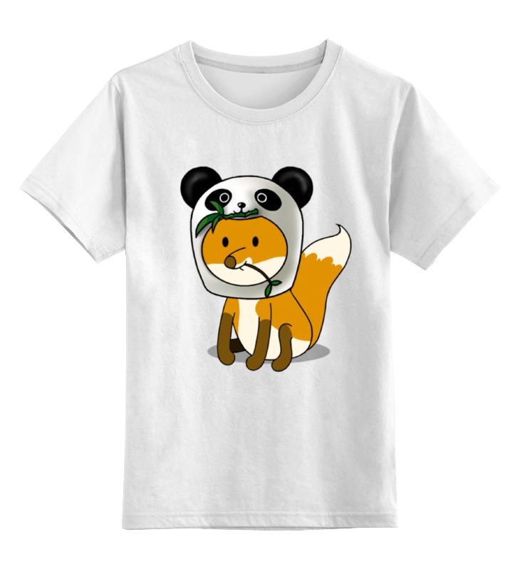 Детская футболка классическая унисекс Printio Лисенок панда цена и фото