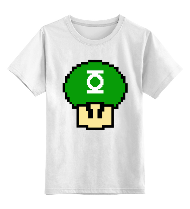 Детская футболка классическая унисекс Printio Гриб марио (зеленый фонарь) gangxun зеленый цвет