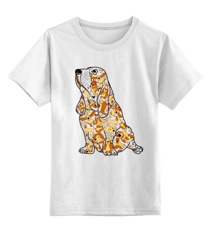 Детская футболка классическая унисекс Printio Смешная собака бассет купить щенкак в донецке бассет
