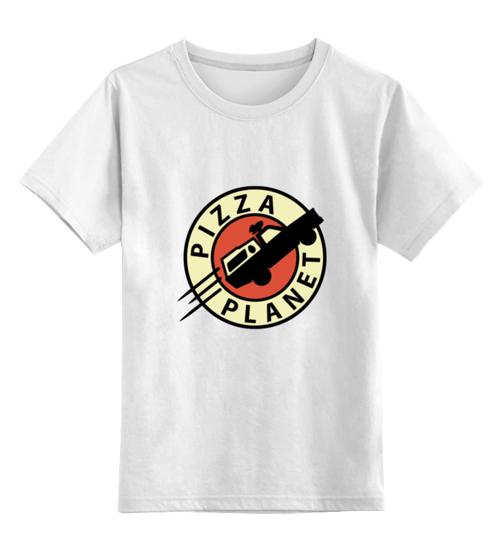 Детская футболка классическая унисекс Printio Планета пиццы самая одинокая планета