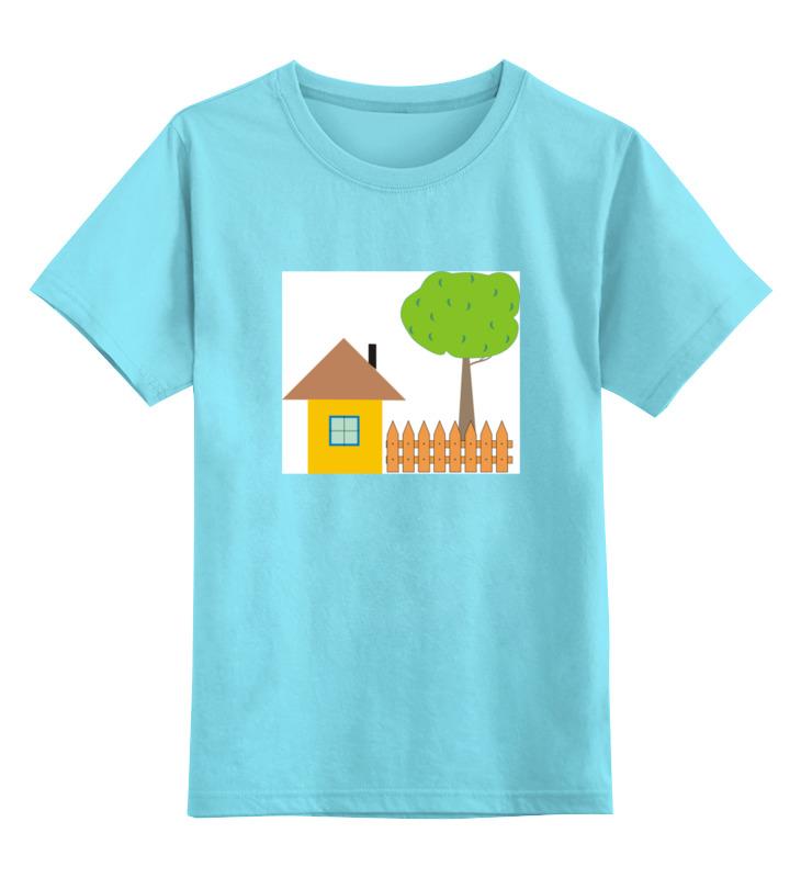 Детская футболка классическая унисекс Printio Ьаьушкин домик дом дачу купить дешево на юге россии