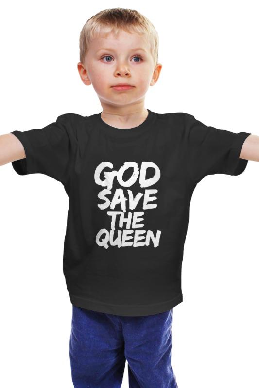 Детская футболка классическая унисекс Printio God save the queen (боже, храни королеву) лонгслив printio god save the queen боже храни королеву