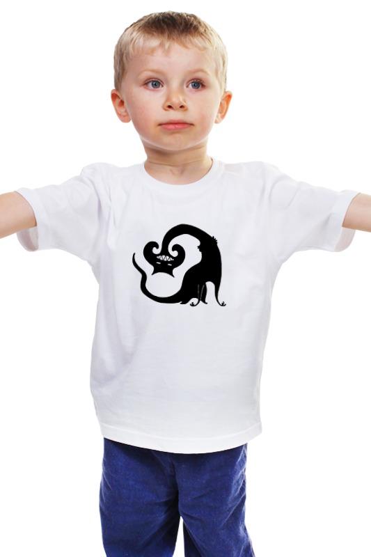 Детская футболка классическая унисекс Printio Зубастый кот детская футболка классическая унисекс printio зубастая рыбка