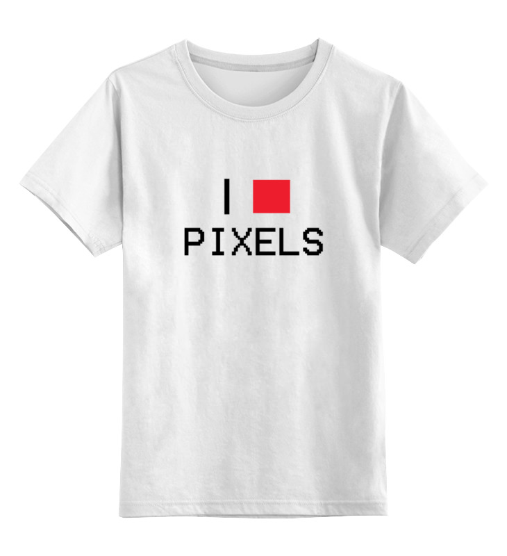 Детская футболка классическая унисекс Printio Люблю пиксели sbart upf50 rashguard 2 bodyboard 1006
